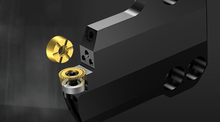 CoroTurn® 107 per componenti ad elevate sporgenze